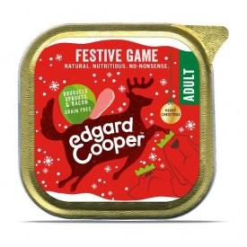 EDGARD & COOPER Cani Festive Game Selvaggina, Cavoletti di Bruxelles e Bacon 100 gr