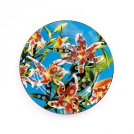 """Piatto in Porcellana """"Toiletpaper New"""" Seletti – Flowers"""