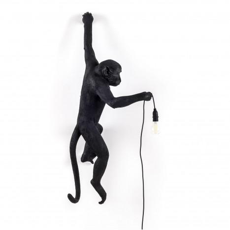 "Lampada in Resina ""Monkey Lamp Black"" Seletti – Appesa"