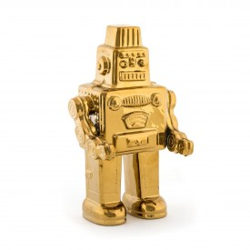 Il mio Robot in Porcellana Limited Edition Gold Linea Memorabilia Seletti