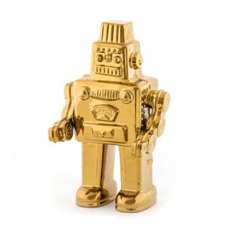Il mio Robot in Porcellana Limited Edition Gold Linea Memorabilia Seletti