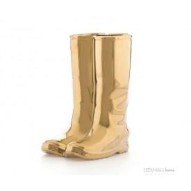 Vaso Portaombrelli in Porcellana Rainboots Gold Linea Memorabilia Seletti