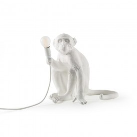 "Lampada in Resina ""Monkey Lamp White"" Seletti – Seduta"