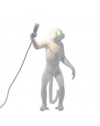 """Lampada in Resina """"Monkey Lamp White"""" Seletti – In Piedi"""