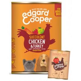 EDGARD & COOPER Cani Pollo e Tacchino 400 g