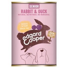 EDGARD & COOPER Cani Senior Coniglio e Anatra 400 gr