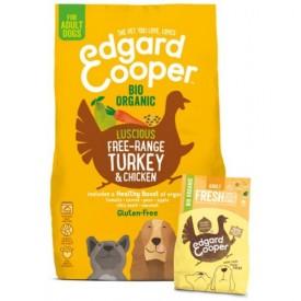 EDGARD & COOPER Cani Adult Tacchino e Pollo Bio da 7 Kg