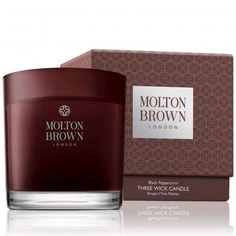 Molton Brown Black Peppercorn Candela Profumata 3 Stoppini