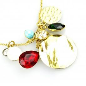 Sautoir Talisman N°26 con Charms, Resin Stone e Cristalli