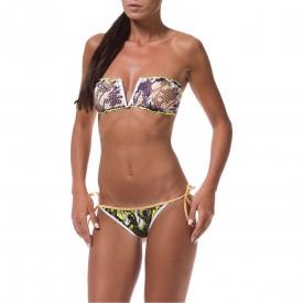 Bikini a Fascia a V e Slip con Laccetti FK16-0526U