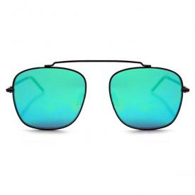 Occhiali da Sole Beta Matrix con Montatura Nera e Lenti a Specchio Verdi