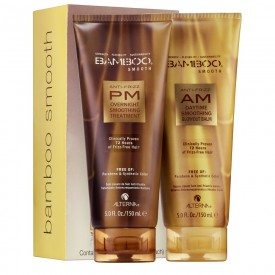 Bamboo Smooth Anti-Frizz AM/PM Starter Kit - Trattamento Anticrespo Giorno/Notte (2x150ml)