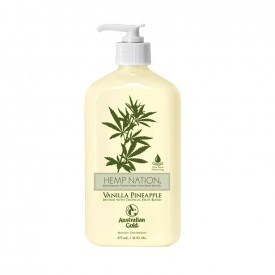 Hemp Nation Moisturizing Tan Extender Vanilla Pineapple - Doposole Prolungatore di Abbronzatura (535ml)
