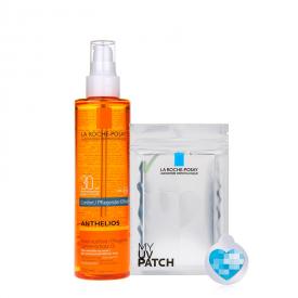 La Roche Posay - Anthelios Olio Solare Nutritivo Resistente all'Acqua SPF30 con MY UV PATCH (200ml)