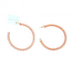 """Reminiscence - Orecchini """"Boucles"""" Cerchi color Arancioni con Swarovski"""
